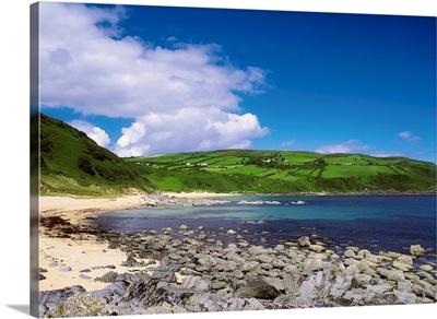 Kinnagoe Bay, Inishowen, Co Donegal, Ireland; Beach On A Peninsula