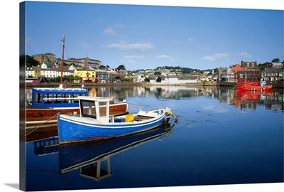 Kinsale, Co Cork, Ireland, Boats In The Water In A Town