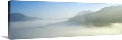 Ladies View, Killarney, County Kerry, Ireland, Mist Over An Irish Landscape