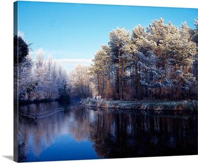 Lagan Meadows During Winter, Belfast, County Antrim, Ireland