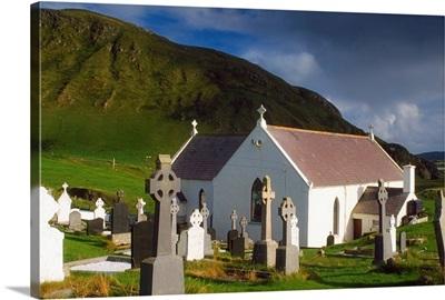 Lagg Church, Inishowen Peninsula, Co Donegal, Ireland; Church And Graveyard