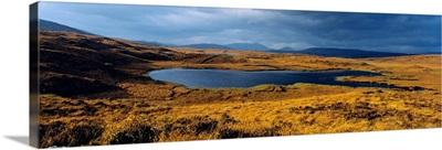 Lake In A Bog, Oughterard, Connemara, County Galway, Republic Of Ireland