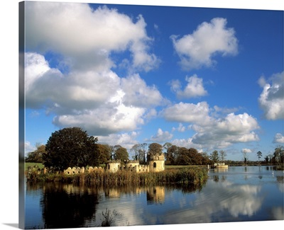 Larchill Arcadian Garden, Co Kildare, Ireland; Lake Island And Follies