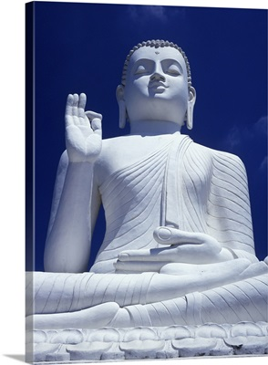 Large Seated White Buddha; Sri Lanka, Asia