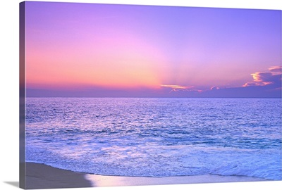 Lavender Sky With Hues Of Pink And Yellow