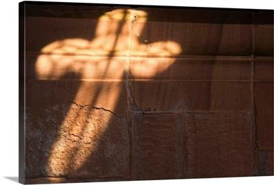 Light In Cross Shape On Wall