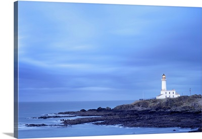 Lighthouse At Turnberry Point At Dusk, South Ayrshire, Ayrshire, Scotland