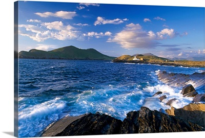 Lighthouse In The Distance, Fort Point, Valentia Island, County Kerry, Ireland