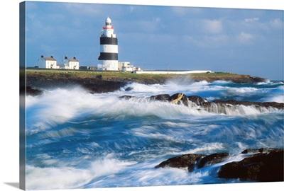 Lighthouse On A Stormy Coast, Hook Head, County Wexford, Ireland