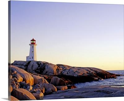 Lighthouse On Peggy's Cove, Nova Scotia