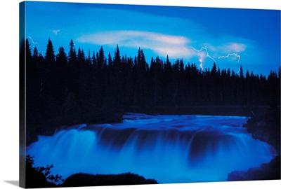 Lightning Over Pisew Falls, Manitoba, Canada