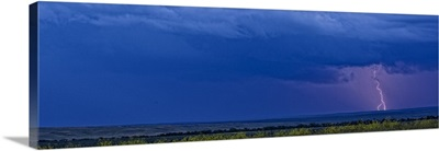 Lightning strike over the prairies, Saskatchewan, Canada