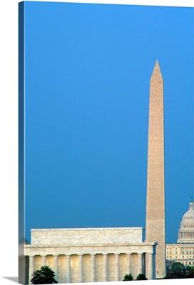 Lincoln Memorial, Washington Monument, Capitol Building, Washington DC