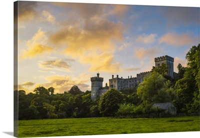 Lismore Castle At Sunrise With An Epic Dramatic Sky, Lismore, County Waterford, Ireland