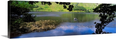 Lough Beagh, Glenveagh National Park, Co Donegal, Ireland, Angling At A Lake