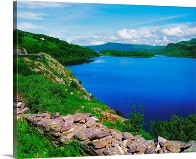 Lough Caragh, Co Kerry, Ireland; Shoreline Of A Lake