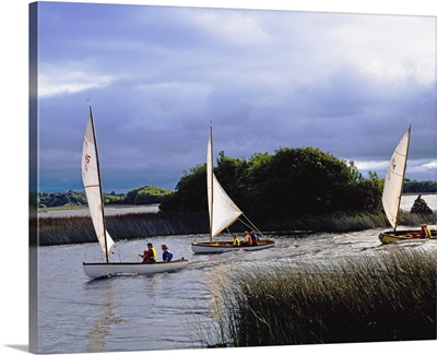 Lough Derg, Co Donegal, Ireland; Sailing Near Ballinderry