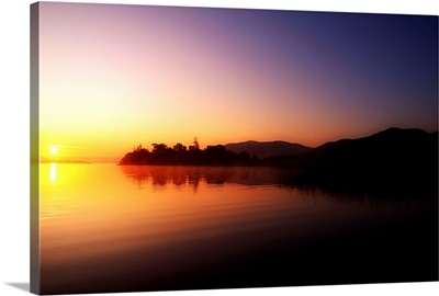 Lough Gill, Co Sligo, Ireland; Irish Landscape At Sunrise