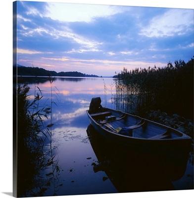 Lough Leane, Lakes Of Killarney, Co Kerry, Ireland; Lake At Sunset