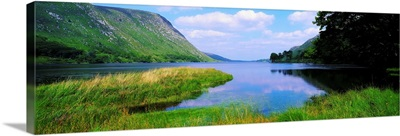 Lough Veagh, Glenveagh National Park, Co Donegal, Ireland, Lake Taken From The Shore