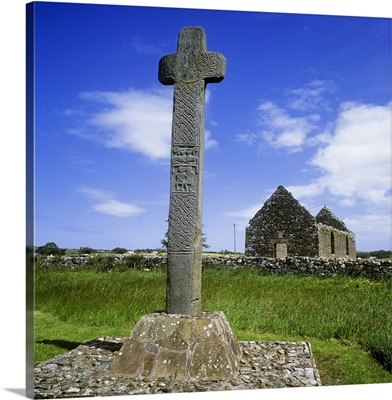 Low Angle View Of A Megalith, Cloncha, County Donegal, Republic Of Ireland