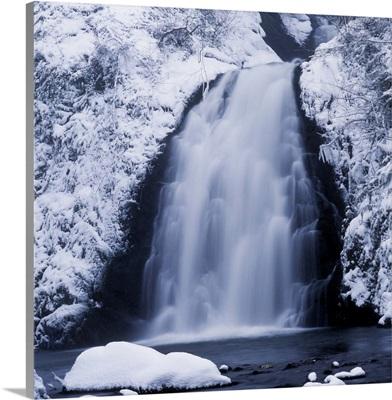 Low Angle View Of A Waterfall, Glenoe Waterfall, Glenoe, Northern Ireland