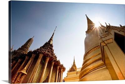 Low Angle View Of The Grand Palace In Bangkok; Bangkok, Thailand