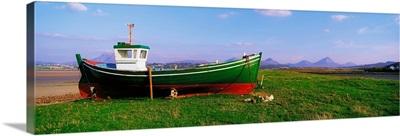 Magheraroarty, Co Donegal, Ireland, Trawler On The Shore