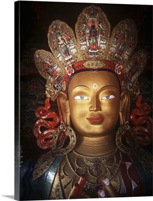 Maitreya Buddha At Thikse Monastery