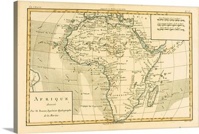 Map Of Africa, Circa 1760