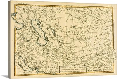Map Of Central Asia, Circa 1760
