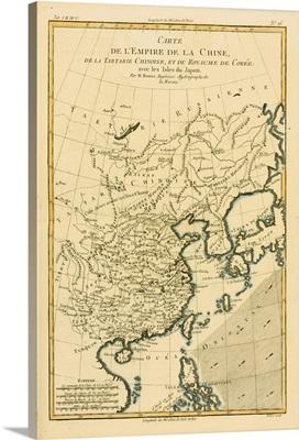 Map Of China And Japan, Circa 1760