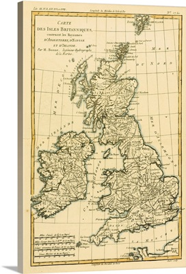 Map Of The British Isles, Circa 1760