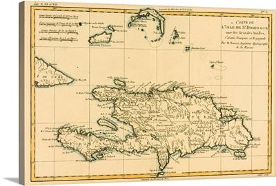 Map Of The Dominican Republic, Circa 1760