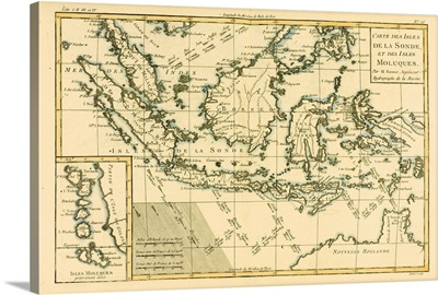 Map Of The Isles Of Sunda And The Moluccas, Circa 1760