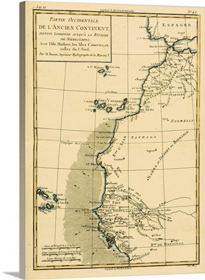 Map Of West Africa, Circa 1760