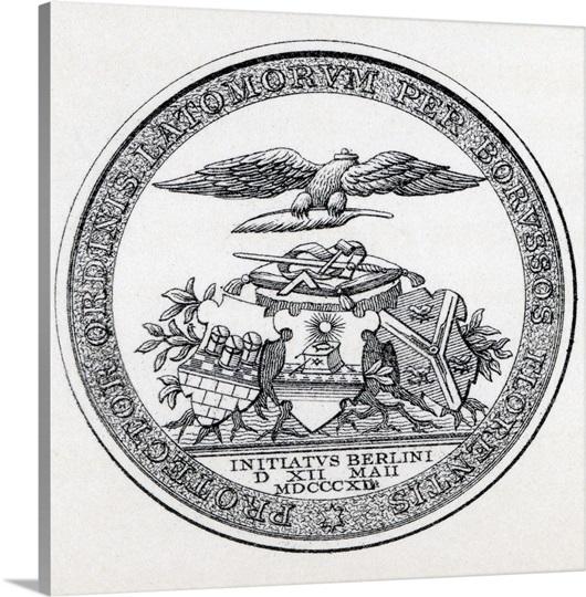 Masonic Seal Engraving From The Book The History Of Freemasonry ...