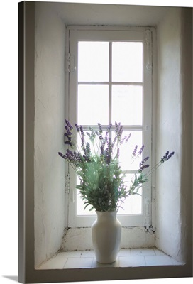 Mediterranean Coast In Provence, Lavender In A Vase, Southern France