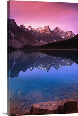 Moraine Lake's Valley Of The Ten Peaks; Lake Louise, Alberta, Canada