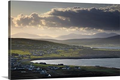 Morning Light Over A Village, Dooagh, Achill Island, County Mayo, Ireland