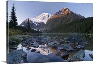Mount Edith Cavell Cavell Lake Jasper National Park