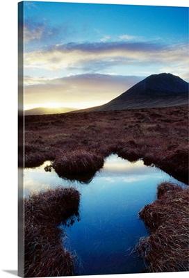 Mount Errigal, County Donegal, Ireland; Marshland Scenic