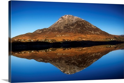 Mount Errigal, Lough Nacung, Dunlewy, Ireland; Mountain Reflected In Lake