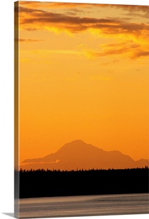 Mt Mckinley at Sunset as Seen From Anchorage SC Alaska