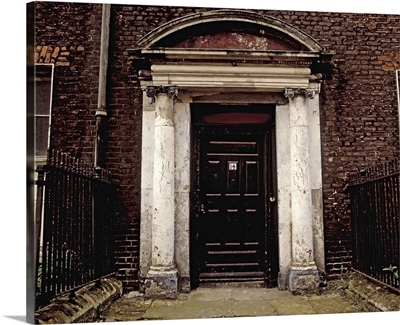 Neglected Georgian House, Henrietta Street, Dublin, Ireland