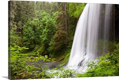 North Middle Falls In Silver Falls State Park; Oregon