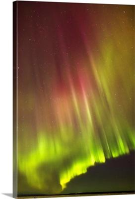 Northern Lights in the sky above Knik Arm, Cook Inlet, Alaska