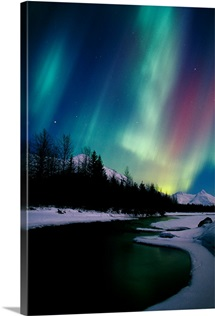 Northern Lights Over Portage River Valley SC Alaska