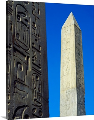 Obelisk Of Hatshepsut With Detail Of The Obelisk Of Tuthmosis I In The Foreground