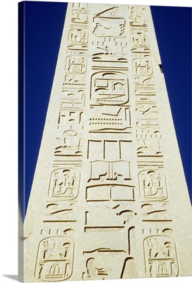 Obelisk Of Tuthmosis III And Blue Sky, Close Up